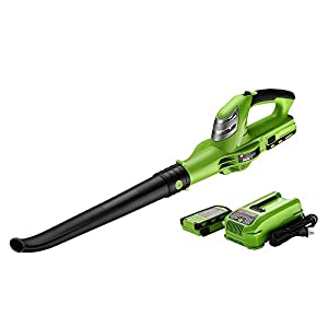 Best Partner 18-Volt Lithium Ion Cordless Leaf Blower,Light-Weight,Single Speed,130 MPH With Battery and Charger