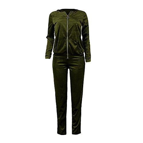 Sportswear Chemise Chic 2pcs Blouse Velours Pantalon Chaud Veste rBUwqrxa