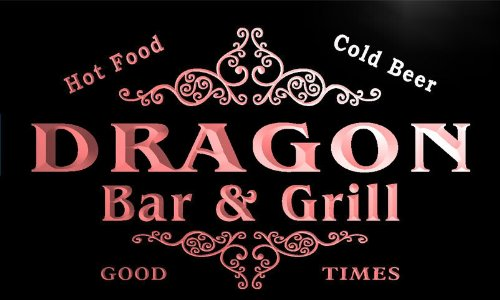 u12166-r DRAGON Family Name Gift Bar & Grill Home Beer Neon Light Sign (Dragon Neon)