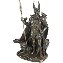 9.75 Inch Norse God - Odin Cold Cast Bronze Sculpture Figurine