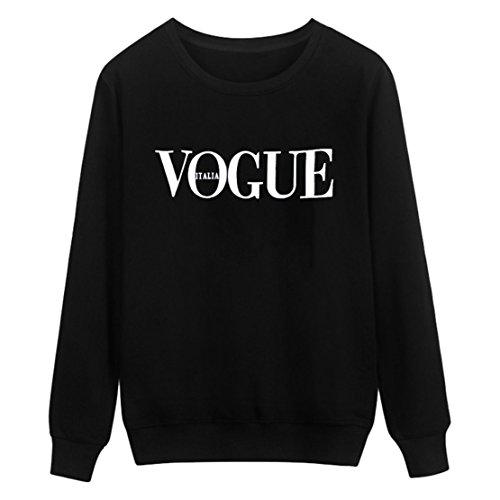 Manches Hauts Tops Femmes Jumpers Longues Automne Pullover Rond Pulls Col Lettre Imprime Fashion Noir Shirts Printemps et Sweat Blouse PSqHSY
