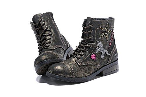 APELPES Casual Girl's/Women's Boots Hip-Hop & Fashion Shoes/Sneakers Side Zipper Anti-Skid Boots (Big Kid/Women)
