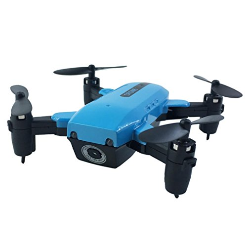 (Cinhent Helicopter Remote Control Drone L200 2.4GHz Mini Foldable Quadcopter With Battery Pocket RC Helicopter Airplanes Toys For Adults Kids (Without Camera) (Blue) )