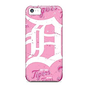 Fashion Tpu Case For Iphone 5c- Detroit Tigers Defender Case Cover