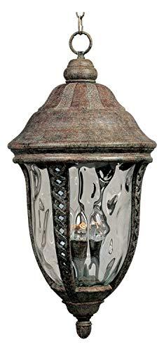 Hanging Whittier - Three Light Earth Tone Water Glass Glass Hanging Lantern