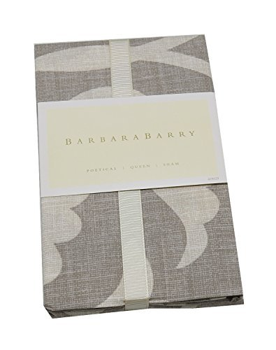 Barbara Barry Poetical (20in x 30in) Queen Sham, Silver (Barry Barbara Beds)