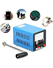 Shikha Hand Crank Generator, Portable Crank Generator Multifunction Hand USB Generator Crank Emergency USB Charger Generator for Emergency Survival Experiments Power Suppy, Camping Field Works