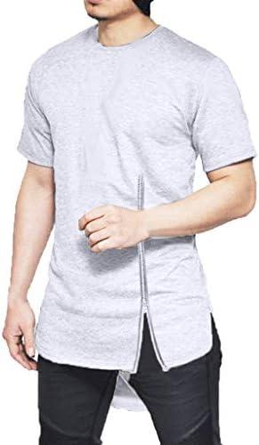 Lunule Camisetas Hombre Verano Casual Camiseta de algodón con Abertura Lateral de Hombre Blusa de Manga Corta Camiseta Deporte Tops Deportivos Hombre: Amazon.es: Ropa y accesorios