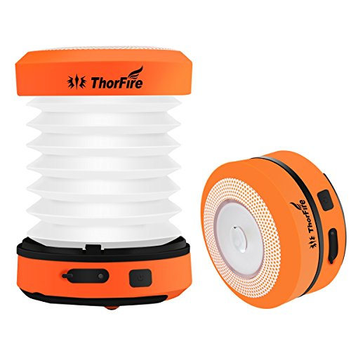 ThorFire LED Camping Laterne USB aufladbare Mini Taschenlampen Fackel Licht Lampe CL01 Klapp Kurbel Wandern Joggen