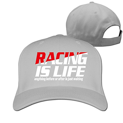 Adult Racing Is Life Love Racing Fitted Hat Ash (Racing Digimon)