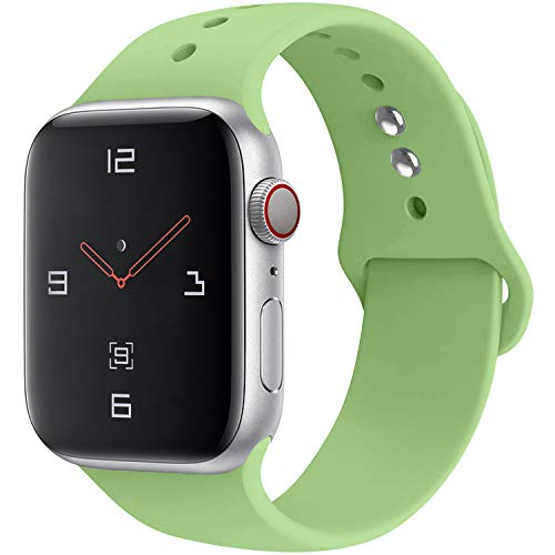 (YOUKEX Sport Band Compatible with Watch 38mm 40mm 42mm 44mm,Soft Silicone Strap Replacement Wristbands Compatible with Watch Sport Series 4 Series 3 Series 2 Series 1 Edition)