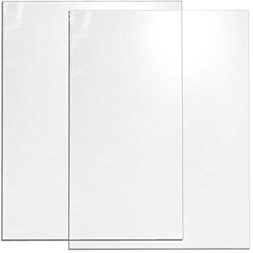Cohas Acrylic Chalkboard Includes 2 Clear Boards with No Chalk Marker, 12 x 16 Inches Each, No -