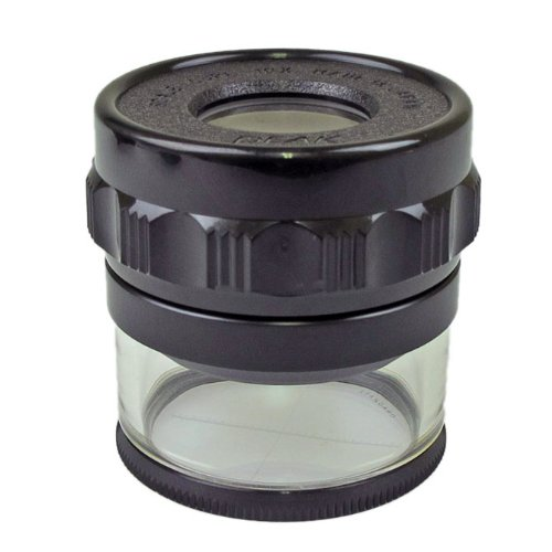 PEAK TS1983 Full Focus Scale Loupe, 10X Magnification, 0.8'' Lens Diameter, 1.1'' Field View