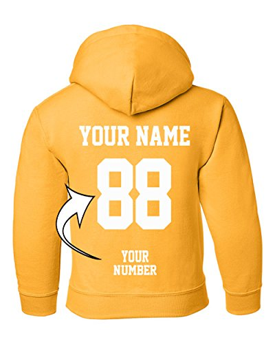 Custom Hoodies For Youth - Design Your Own Jersey - Pullover Hooded Team Sweaters by Tee Miracle