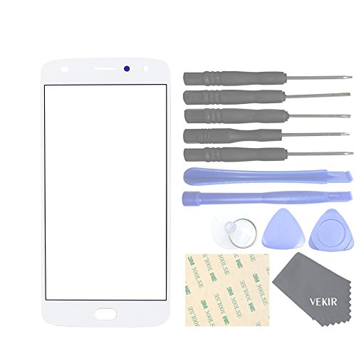 VEKIR Cell Phones Replacement Parts for Motorola Moto Z2 Play XT1710-01 XT1710-07 XT1710-10 XT1710-08 Outer Glass Screen Panel[NO LCD,NO Touch](White) -  VK898