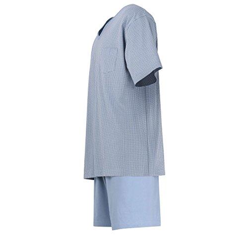 CECEBA Herren Shorty, kurzarm, Baumwolle, Single Jersey, grau, bedruckt 52