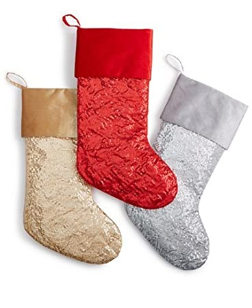 Amazon.com: Holiday Lane Sequin Christmas Stocking, Gold: Home ...
