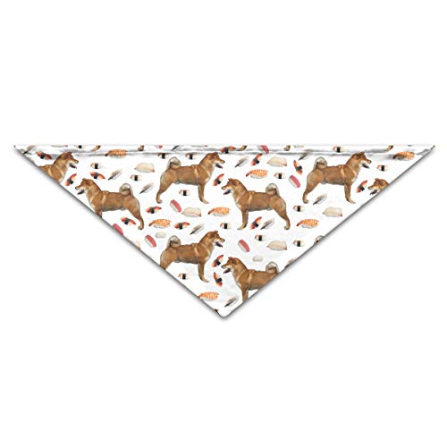 OLOSARO Dog Bandana Akita Dog and Sushi Triangle Bibs Scarf Accessories for Dogs Cats Pets Animals ()