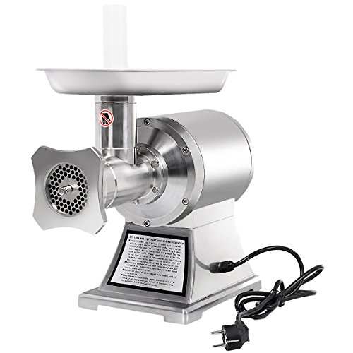 Heavens Tvcz Commercial Food International Meat Grinder Electric Heavy Duty Accessories Cooked 1100W Stainless Steel Grade 1HP For meat shop, supermarket or food lover/cook use.