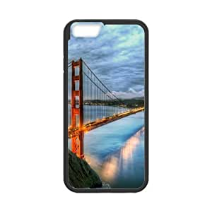 Custom Golden Gate Bridge Design Rubber PC Case for Iphone 6 case