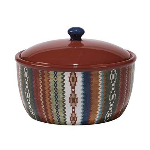 Monterrey Multicolored Ceramic 80-ounce Hand-painted Bean Pot