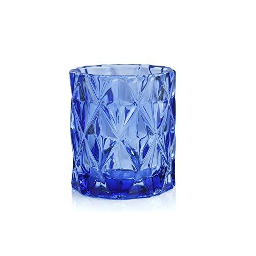 IMPULSE! Sunset Cobalt Blue Small Votive, Candle Holders, Small Bud Vase, Set of 4 Cobalt Blue Votive Candle