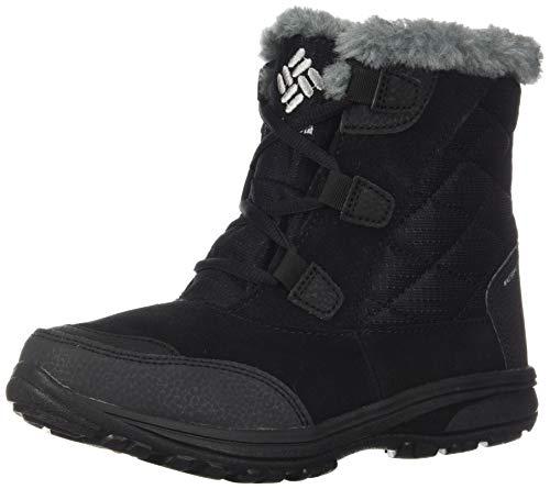 Columbia Women's ICE Maiden Shorty Snow Boot, Black, Grey, 6 Regular US (Maiden Outdoor)
