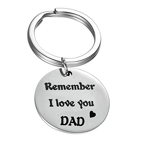 Bestwick Papa Gifts Birthday Gifts for Dad from Daughter, Personalized Keychain Fathers Day Dad Gifts Engraved Remenber I Love You Dad
