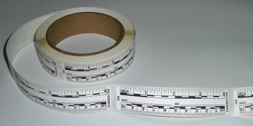 (Ruler – Adhesive Backed Decal on a Roll – Fractional/Metric – 4 Inch (10 Centimeter) Long – Left to Right – 200 per Roll – White)