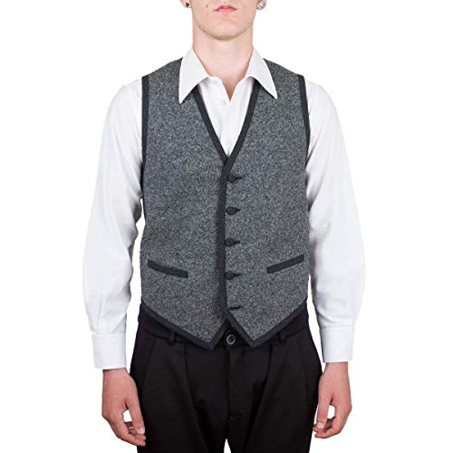 Vest, Gilet, Waistcoat, Knitwear, Men, Boy, Black, Grey, Brown, Melange, Tailored, Wool, Buttons, Pockets, Casual, Business, Formal, Sleeveless, Italian Fabric, Italian Style, Made in Italy, Handmade from Old Fashion Sartoria, Florence, Italy
