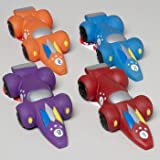 DOG TOY VINYL RACE CAR WITH SQUEAKER 4 COLORS IN PDQ, Case Pack of 80