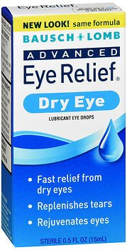Bausch & Lomb Advanced Eye Relief Rejuvenation Lubricant Eye Drops 0.50 oz (Pack of 2)