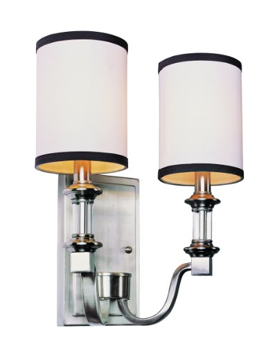 Trans Globe Lighting 7972 BN 2-Light Wall Sconce Fixture, Brushed Nickel (Two Bn Light)