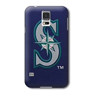 S5 Case, MLB - Mariners Embroidery - Samsung Galaxy S5 Case - High Quality PC Case