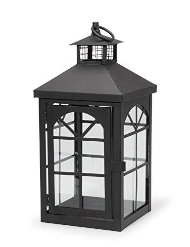 (Darice Decorative Black Metal Candle Arched Window Design, 12.75 inches Lantern)