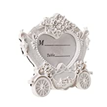 MagiDeal Romantic Carriage Table Number Card Picture Photo Stand Frame Wedding Favor