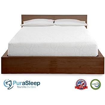 Amazoncom Purasleep 3 Carbon Comfort Memory Foam Topper Grey