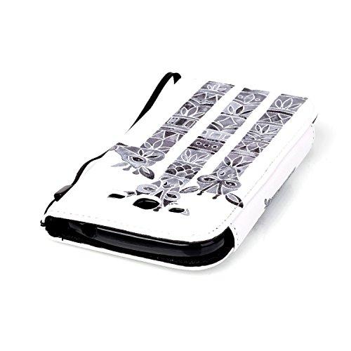 para Samsung Galaxy Grand Plus Funda Libro de PU Leather Cuero Suave Con PU Case -Sunroyal ® Ultra Slim Flip Carcasa Cover, Cierre Magnético, Función de Soporte,Billetera con Tapa para Tarjetas Caja d A-11