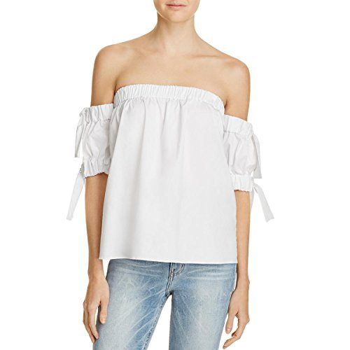 MILLY Women's Bow Top, White
