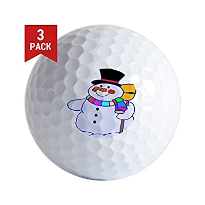 CafePress - Snowman - Golf Balls (3-Pack), Unique Printed Golf Balls