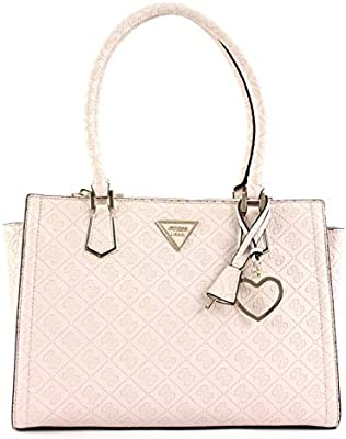Guess Satchel Bag For Women, Cream - SG71