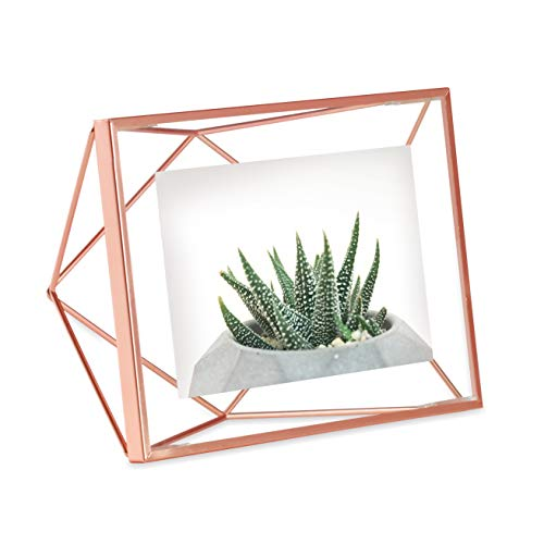 (Umbra Prisma Picture Frame, 4x6 Photo Display for Desk or Wall, Copper)