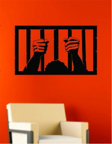 Man in Jail Wall Vinyl Decal Sticker Art Graphic Sticker Halloween]()