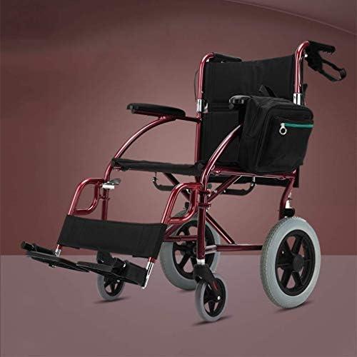 WZB - Wheelchair Rollstuhl aus Aluminiumlegierung mit Handbremse, Faltbarer Rollstuhl mit Eigenantrieb Leichter, Leichter Rollstuhl mit Handicap für Beinverletzungen