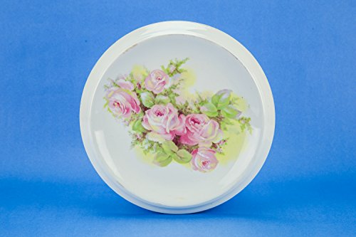 Antique Fish Platter - Charming Antique Porcelain CAKE PLATTER Plate 10.2'' Art Nouveau Serving Pink Large Roses Fish Dinner Kitchen German Circa 1900 LS