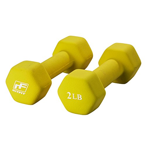 RitFit Neoprene Dumbbell Pairs (2-Pound)