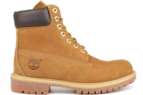 Timberland Men's 6 inch Premium Waterproof Boot,Wheat Nubuck,8.5 M US Mens Classic 6 Inches Boot