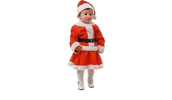 DISBACANAL Disfraz de Mamá Noel niña - Único, 2 años: Amazon ...