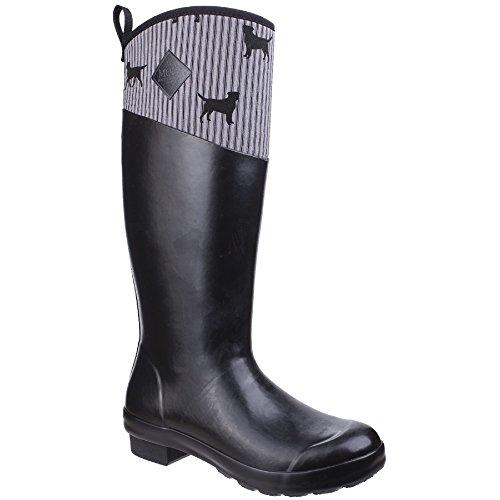 Chiens Muck Noir Boots Gris Femmes Emily Bottes Dames Imprim Pour Bond Tremont rrOPfq