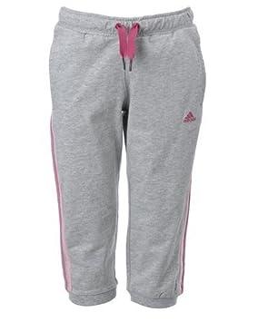 8451fbc6902a Adidas Essentials Girls 3 4 Length Capri Pants - Grey   Pink (15-16 ...
